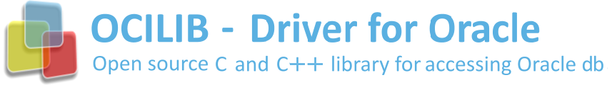 OCILIB (C and C++ Driver for Oracle) - Open source C and C++ library for accessing Oracle databases banner image